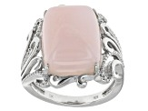 Pink Peruvian Opal Sterling Silver Ring