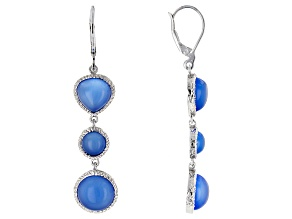 Blue Chalcedony Sterling Silver Dangle Earrings