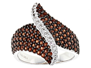 Red Garnet Sterling Silver Ring 2.10ctw