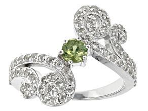 Green Demantoid Garnet Sterling Silver Ring 1.64ctw