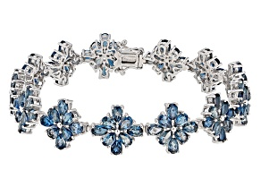 London Blue Topaz Sterling Silver Bracelet 23.87ctw