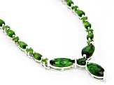 Green Chrome Diopside Sterling Silver Necklace 7.68ctw
