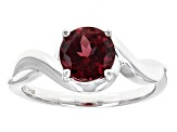 Purple Rhodolite Sterling Silver Solitaire Ring 1.34ct