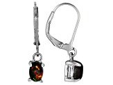 Black Ethiopian Opal Sterling Silver Earrings .66ctw