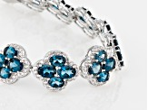 London Blue Topaz Sterling Silver Bracelet 32.15ctw