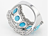 Blue Sleeping Beauty Turquoise Sterling Silver Ring 1.45ctw