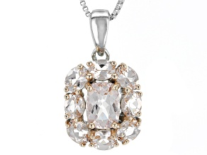Pink Morganite Sterling Silver Pendant With Chain 1.63ctw