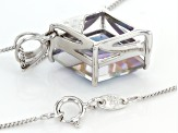 Odyssey Blue™ Quartz Sterling Silver Pendant With Chain 3.75ct