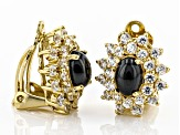 Black onyx 18k gold over sterling silver earrings 1.35ctw