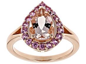Pink Morganite 18k Rose Gold Over Sterling Silver Ring 1.98ctw