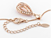Pink Morganite 18k Rose Gold Over Sterling Silver Pendant With Chain 1.78ctw