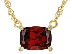 Red Garnet 18k Yellow Gold Over Silver Necklace 1.72ctw