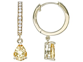 Yellow Citrine 18k Yellow Over Sterling Silver Dangle Earrings 2.46ctw