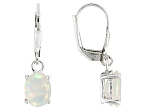 Multi Color Ethiopian Opal Sterling Silver Dangle Earrings .93ctw