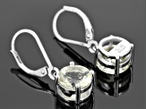 Yellow Labradorite Solitaire Sterling Silver Earrings 3.04ctw