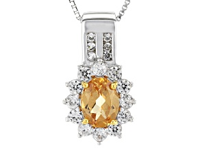 Golden Imperial Hessonite™ Sterling Silver Pendant With Chain 1.87ctw