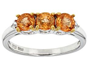 Orange Spessartite Sterling Silver Ring 1.45ctw