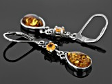 Orange Spessartite Sterling Silver Leverback Earrings .54ctw