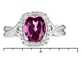 Purple Rhodolite Sterling Silver Ring 1.98ctw