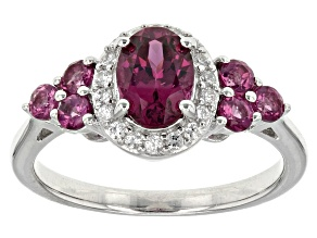 Purple Rhodolite Sterling Silver Ring 1.54ctw