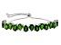 Green Chrome Diopside Sterling Silver Sliding Adjustable Bracelet 8.57ctw