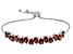 Red Garnet Sterling Silver Bolo Bracelet 9.99ctw