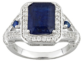 Mahaleo Sapphire Sterling Silver Ring 2.95ctw