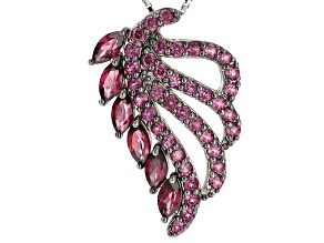 Purple Rhodolite Sterling Silver Pendant With Chain 3.21ctw