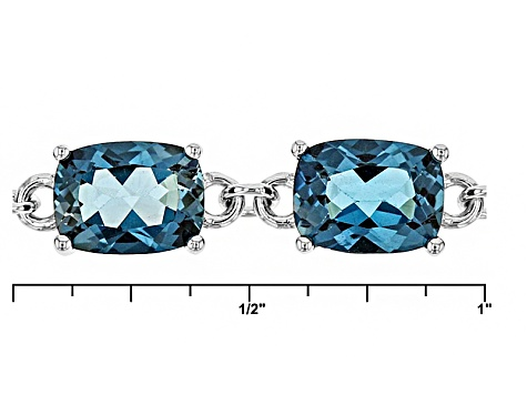 London Blue Topaz Sterling Silver Bracelet 19.17ctw
