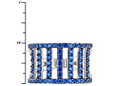 Blue Lab Spinel Sterling Silver Band Ring 1.50ctw