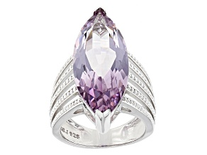Lavender Amethyst Sterling Silver Ring 7.86ct