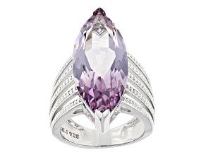 Purple Amethyst Sterling Silver Ring 7.86ct
