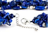 Blue Lapis Lazuli And Sterling Silver 5-Strand Necklace