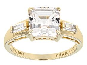 White Danburite 10k Yellow Gold Ring 2.51ctw