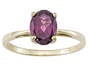 Grape Color Garnet 10k Yellow Gold Ring 1.28ct