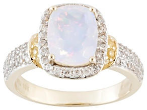 Ethiopian Opal 10k Yellow Gold Ring 1.60ctw