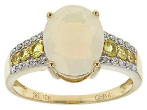Ethiopian Opal 10k Yellow Gold Ring 1.96ctw