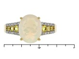 Ethiopian Opal 10k Yellow Gold Ring 1.96ctw