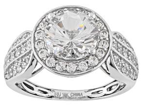 White Danburite 10k White Gold Ring 2.34ctw