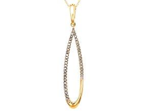 White Diamond 10k Yellow Gold Pendant .20ctw