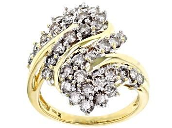 Picture of Diamond 10k Yellow Gold Cluster Ring 2.00ctw