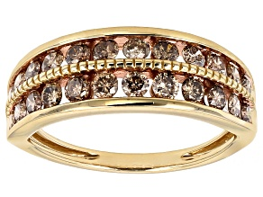 Champagne Diamond 14k Yellow Gold Ring 1.00ctw