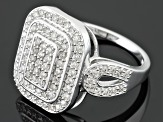 White Diamond 10k White Gold Ring .63ctw