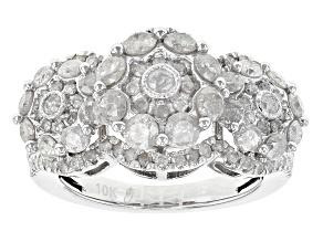 White Diamond 10k White Gold Ring 2.00ctw