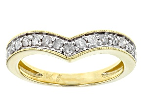 White Diamond 10k Yellow Gold Ring .27ctw