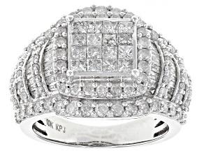 White Diamond 10k White Gold Ring 2.20ctw