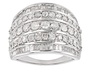 White Diamond 10k White Gold Ring 2.15ctw