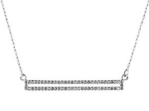 White Diamond 10k White Gold Necklace .17ctw