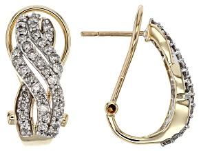 Candlelight Diamond™ 10k Yellow Gold Earrings 1.00ctw