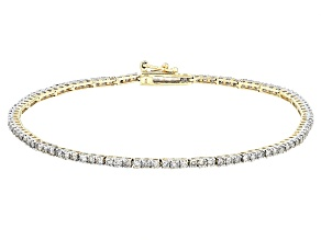 Diamond 10k Yellow Gold Bracelet 2.00ctw